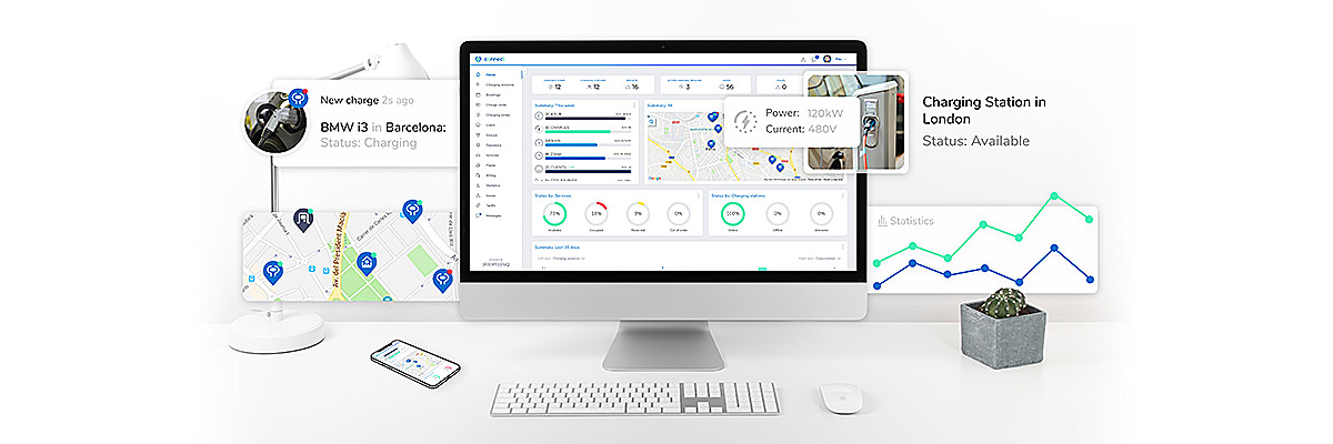 Place to Plug Connect, EV charging stations management software